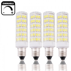 6W Dimmable Mini-Candelabra Edison Screw Base E11 LED Light, 50W Halogen  Replacement, Omni-directional LED E11 Corn Bulb- Pack of 4