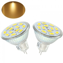 2-Packs 2W MR11 GU4 LED Bulb 12 Volt 20W Halogen Replacement 120 Degrees MR11 G4/GU4.0 LED Spot Light for Home, Landscape, Recessed, Track Lighting