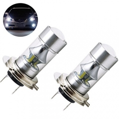 LED H7 DRL Fog Light Bulbs AC/DC 10-30V Daylight 6000k Car Auto Driving Light for Daytime Running Lights DRL or Fog Lights Replacement (Pack of 2)