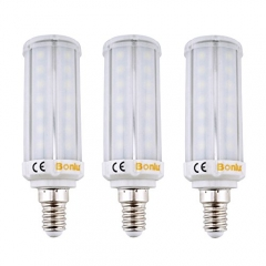 3-Pack E14 LED Corn Bulb 8W 60W Incandescent Equivalent Frosted SES LED Corn Lamp for Chandelier Ceiling Wall Table Lighting Fixture