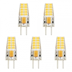 12V G6.35 LED Light Bulb Bi-Pin JC Type 3W GY6.35 LED 30W Halogen Replacement Bulb for Desk Lamp, Accent, Display, Landscape Lighting (Pack of 5)