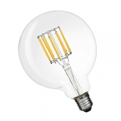10W G125 E27 LED Filament Glass Globe 125mm ES Edison Screw LED Retro Filament Globe Bulb 100 Watt Incandescent Equivalent (Non-dimmable)