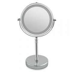 Mirror Magnifying Makeup Illuminated Mirror Light 360 Degree Swivel Rotation for Makeup Shaving Bathroom