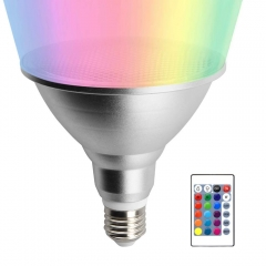 Lustaled 20W LED PAR38 RGB Floodlight Bulb Waterproof Dimmable 16 Color Changing Spotlight E26 with Remote Control for Decoration Lighting