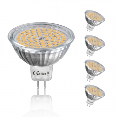 4W MR16 GU5.3 LED Light Bulb 120 Degrees 35W MR16 Halogen Replacement Non-dimmable GU5.3/GX5.3 LED Spotlight for Recessed Ceiling Downlight (5-Pack)